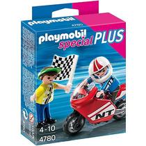 Playmobil 4780 Niño Con Moto De Carreras!!!!