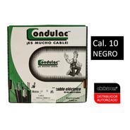 Caja 100 Mts Cable Negro Thw Cal 10 Awg 100%cobre Condulac