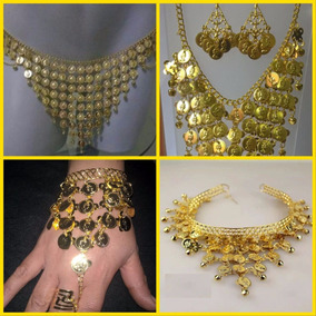 Conjunto De Acessórios Cinturão+colar/brincos+pulseira+tiara