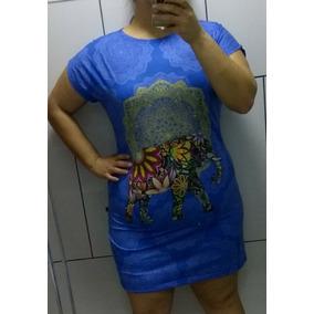 Vestido Estampado Plus Size Gg Gordinhas Elefante Indiano