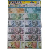 Mini Dinheiro De Brinquedo - Dinheirinho Emb. Com 66 Notas