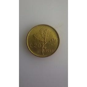 Moneda Antigua 20 Liras Italianas. Excelentes Condiciones!!!