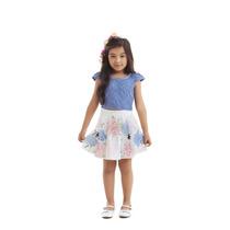 Conjunto Infantil Menina Gabriela Aquarela Com Cropped Em R