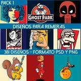 Diseños De Remeras Vectores Serigrafia Estampado - Pack 1