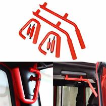 Kit De 4 Agarraderas Metal Rigido Jeep Wrangler 07 - Actual