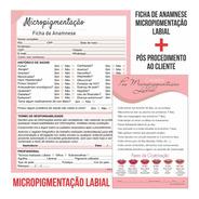 Kit Ficha Anamnese Micropigmentação + Bloco Cuidados Cliente
