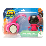 Mini Beat Power Rockers Figuras + Vehiculo Original Scarlet