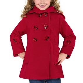 Abrigo Casual Pink 429n Rojo Niñas