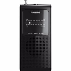 Rádio Am Fm Philips Ae1500x Radinho A Pilha Preto Pequeno