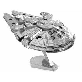 Nave Metal Star Wars Millenium Falcon Para Montar