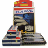 3 Armonicas Hohner Afinada En Do Sol Fa Diatonica Blues Band