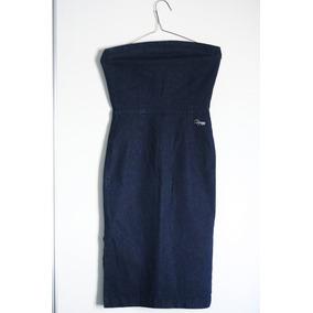 Vestido Strapless Jean Zara Trafaluc