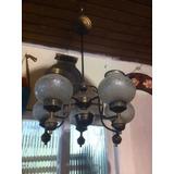 Lustre Luminária De Teto Vidro Lapidado Arte Deco Anos 40 50