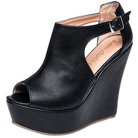 Zapatos Plataforma Dama Been Class Negro 62889 100% Original