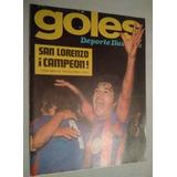 Revista Goles 1354 - San Lorenzo Campeon 1974 - Poster Union