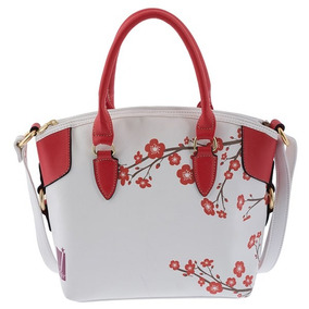 Bolsa Dama Casual Mujer Color Blanco/rojo Jennyfer 8107-2