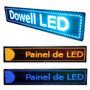 Painel De Led Digital 100x20 Propaganda Cor Azul Promoção
