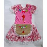 Vestido Caipira Infantil - Festa Junina - Quadrilha São João