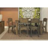 Jogo De Mesa Para Sala De Jantar Com 6 Cadeiras Tm23 Rústico