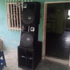 Cajon Turbo Sound Con Bajo Eminence15´´ + 2cornetas