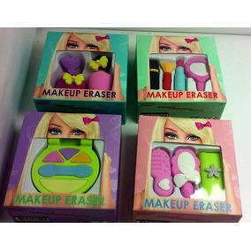 Goma De Borrar Barbie Kawaii Maquillaje Accesorios En Caja