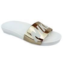 Sandália Chinelo Feminino Nike Slide Glow Metalico