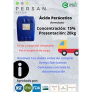 Ácido Peracético 15%, Formulado, Persan Active 20kg