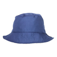 Bucket Hat Azul / Crema