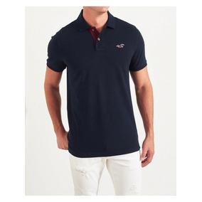 Camisa Polo Hollister Epic Flex Azul Marinho 4e6b2f6094b18