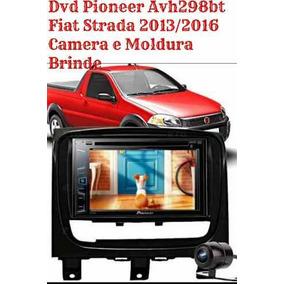 Dvd Pioneer Avh298bt Fiat Strada 2013/2016 Camera E Moldura