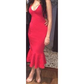 Vestido Vermelho Midi - Tamanho 38