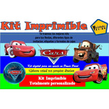 Kit Imprimible Cars, Tarjeta, Invitaciones,diseña, Niño