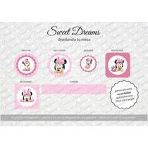Stickers De Minnie Bebe Cortados Para Candy Bar O Mesa Dulce