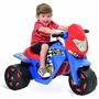 Mini Moto Cross Infantil Elétrica Menino Azul 6v Bandeirante