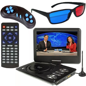 Dvd Player / Tv Digital Portátil Controle Frete Grátis E153