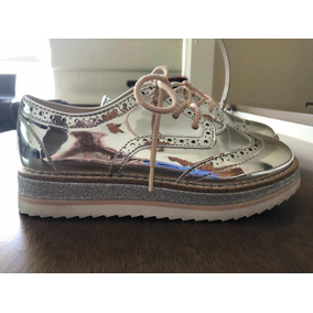 Zapatos Zara Para Niñas Plateados