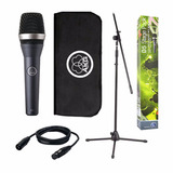Microfono Dinamico Akg D5 Stage Pack + Soporte + Cable