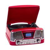 Toca Disco Harmony Vermelho Lp/cd/fm/usb/sd/gravação