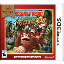 Donkey Kong Country Returns 3d 3ds Nintendo Original