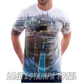 Camiseta Game Final Fantasy 15 City- Camisa Estampa Total 3d