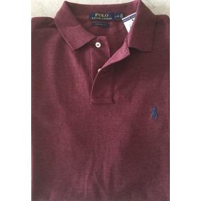 Camisa Polo Ralph Lauren Custom Azul Claro Tamanho G Origina ... 2907a37b839