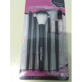 Pincel Maquiagem Profissional Kit C/ 5 - Macrilan Top