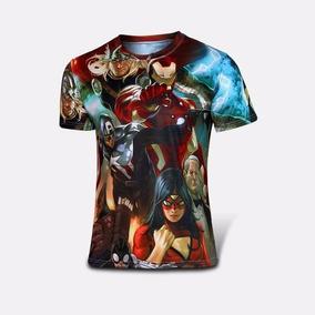 Playera Avengers Capitan Thor Ironman Spiderwom Impresion 3d