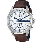 Reloj De Cuero Marrón Para Hombre Ax2190 De Armani Exchange