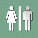 Placa Indicativa Sinalização Banheiro Acrílico Espelhado