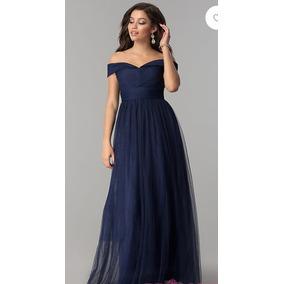 Vestidos de noche largos color azul marino
