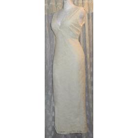 Jessica Howard Vestido Crema Importado Fino Encaje T-7