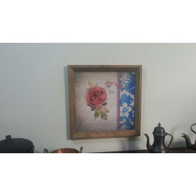 Quadro Decorativo Painel Retrô Vintage Cozinha 20x20cm