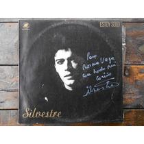 Silvestre Estoy Solo Autografiado Lp Vinilo Promo Argentina