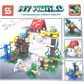 Kit 3 Em 1 Lego Craft 447 Peças My World Sy853 2017 Br68